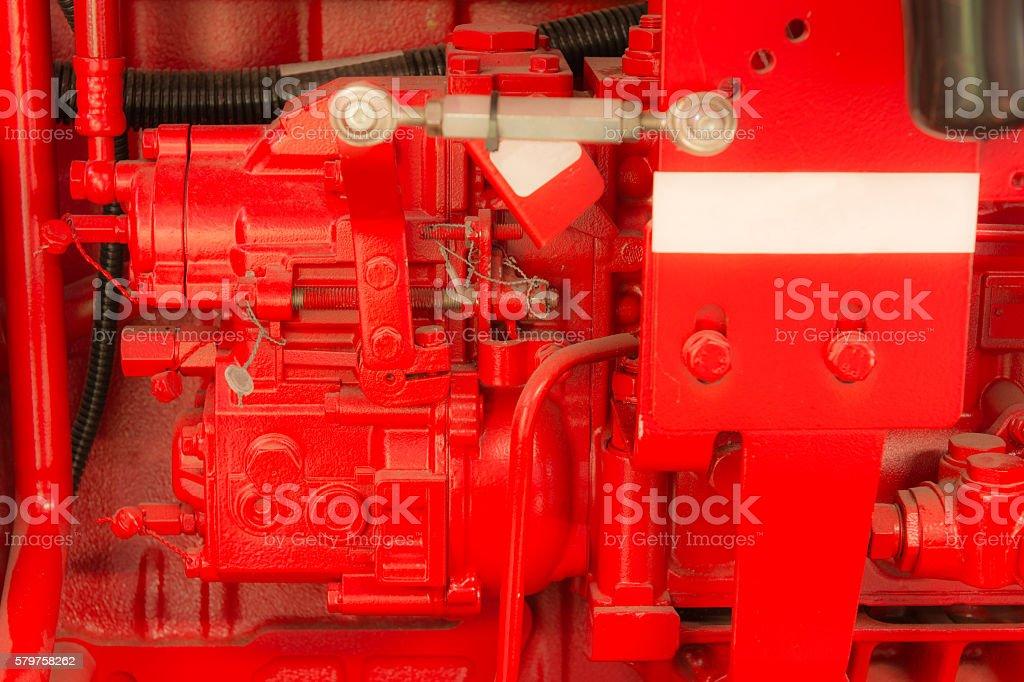 Part of heavy machine. stock photo