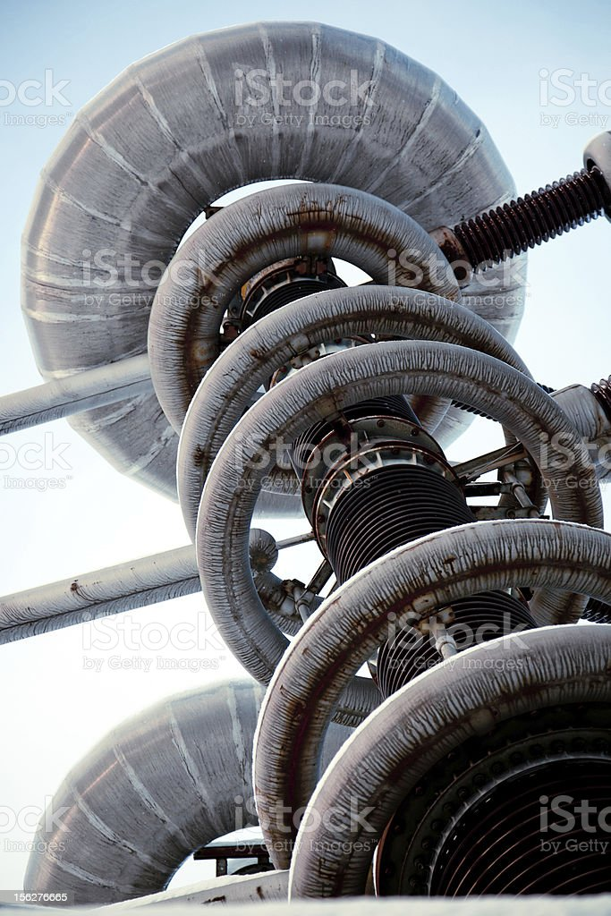 Part of High Voltage Research Installation royalty-free stock photo