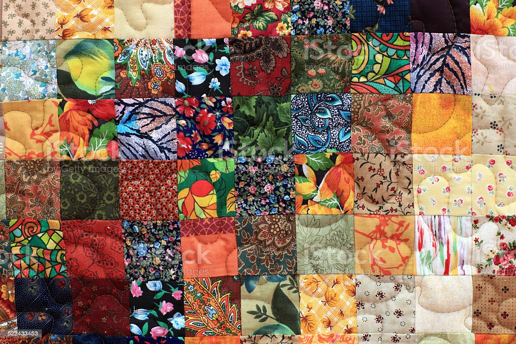 Part of homemade patchwork stock photo