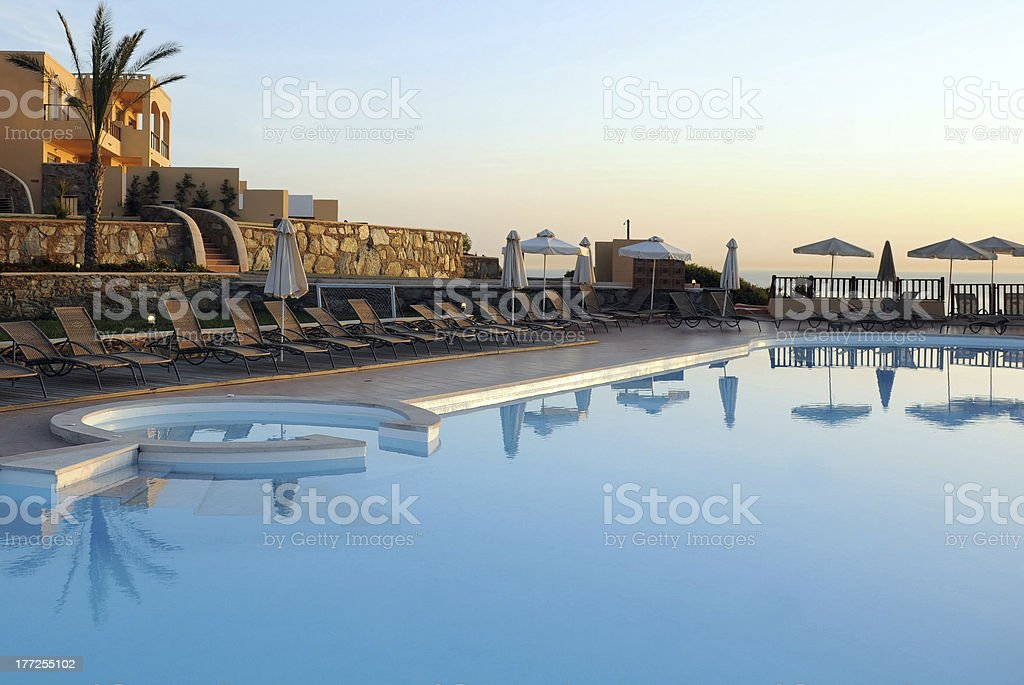 Part of Hotel Recreation Area in Greece stock photo