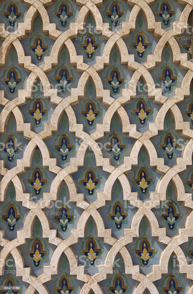 part of islamic mosaic in Morocco royalty-free stock photo
