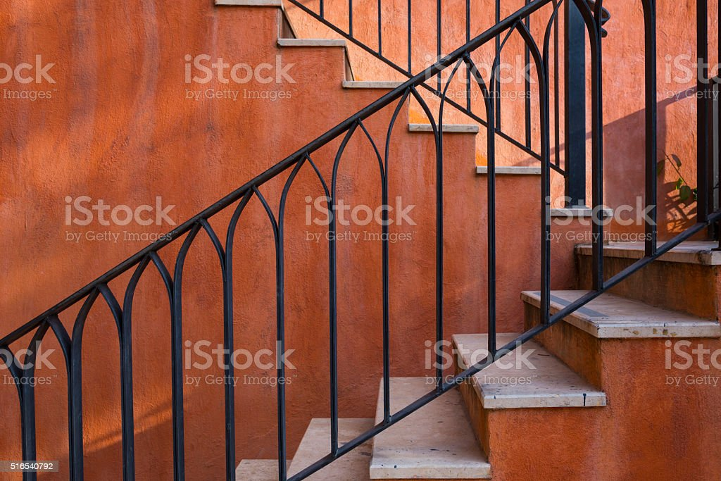 part of Italian style house stock photo
