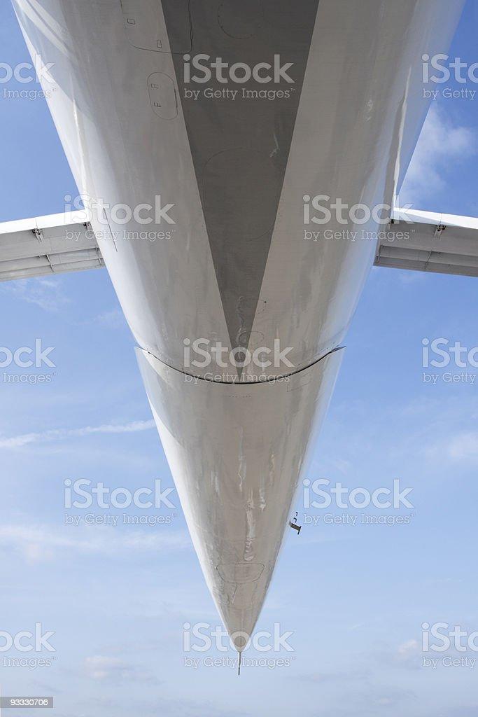 Part of  jetliner aeroplane stock photo