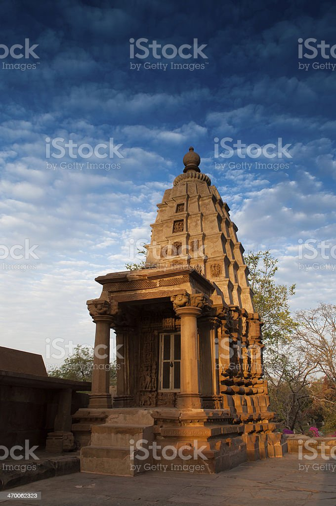 Part of Lakshmana Temple, Khajuraho, India - UNESCO world herita stock photo