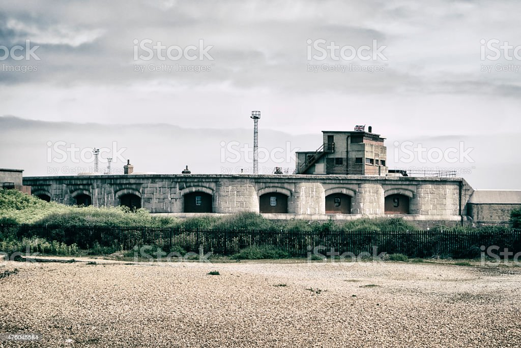 Part of Landguard Fort, Felixstowe stock photo