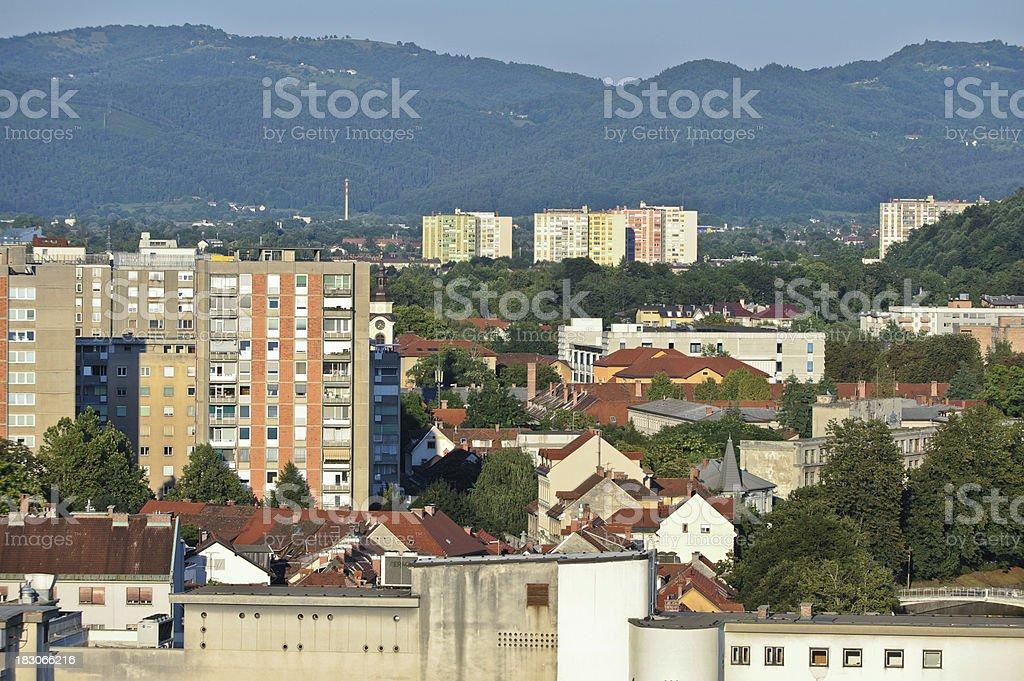 Part of Ljubljana stock photo