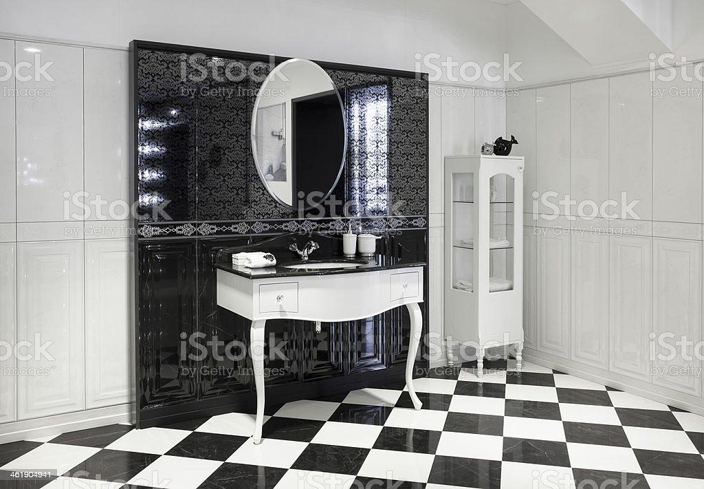 Part of luxury bathroom stock photo