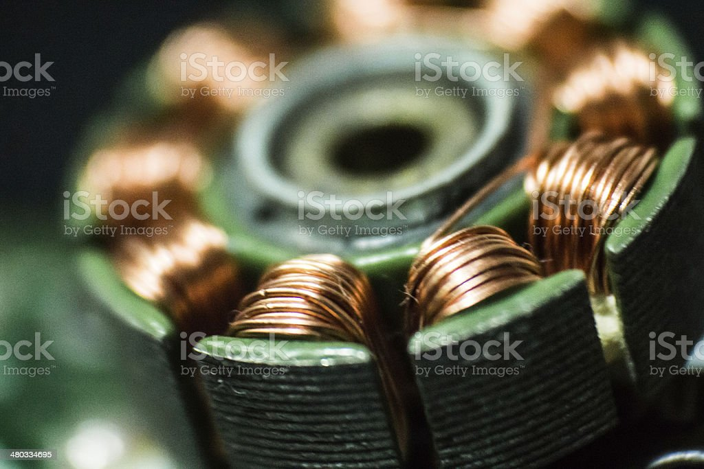 Part of magnet motor stock photo