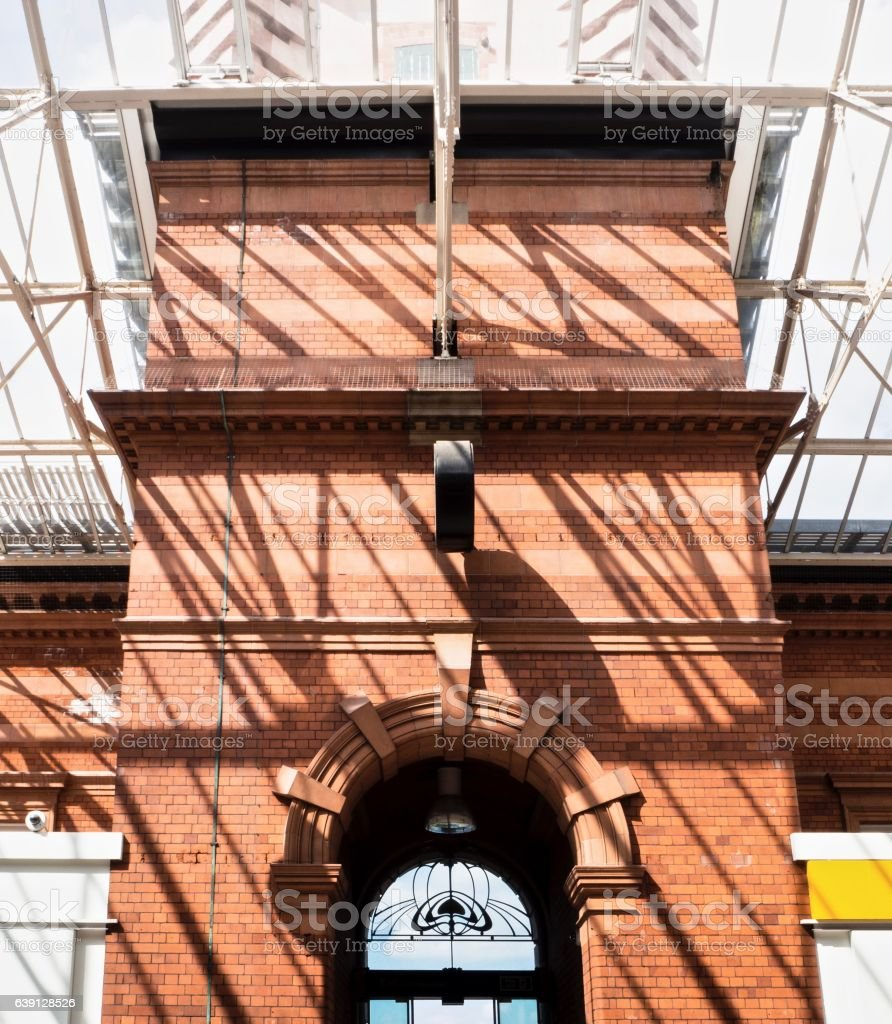Part of  Main Entrance at Nottingham Central Train Station stock photo