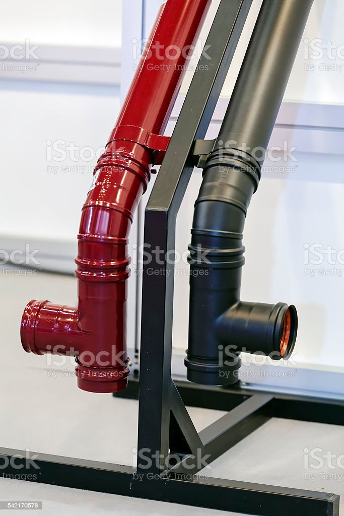 Part of metal pipe stock photo