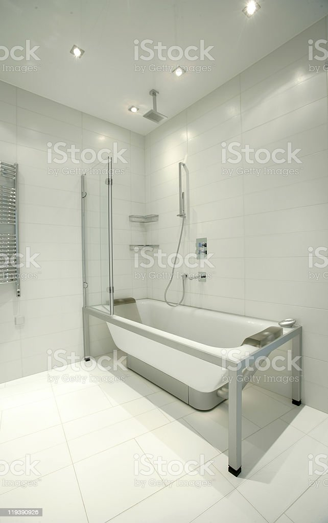 part of modern bathroom in white color royalty-free stock photo
