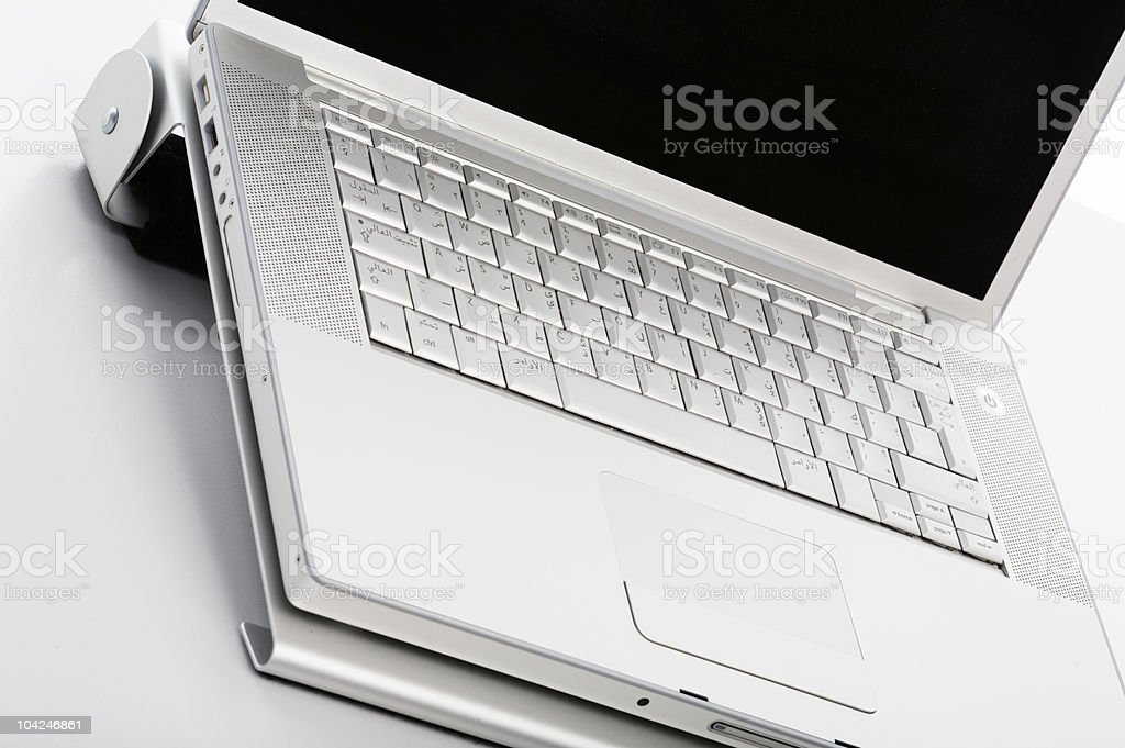 part of modern notebook stock photo
