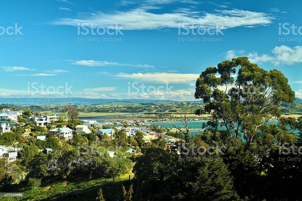 Part of Napier, New Zealand stock photo