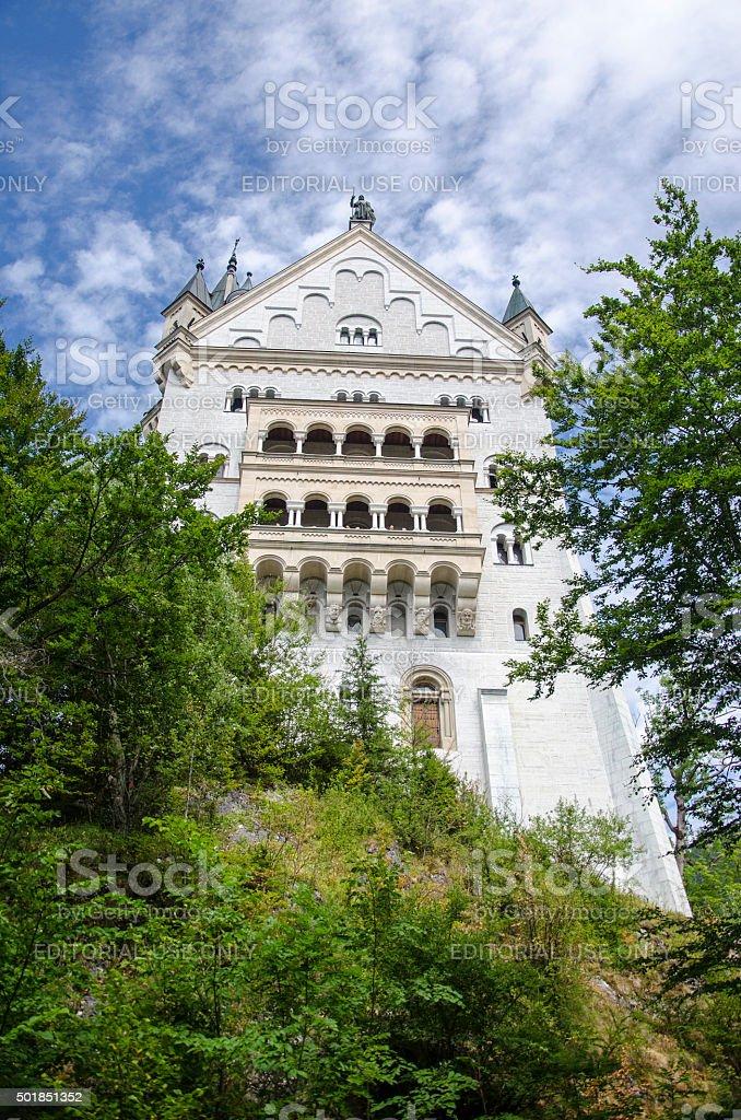 Part of Neuschwanstein Castle stock photo