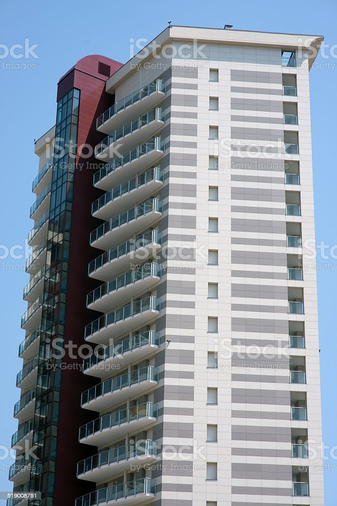 part of new building royalty-free stock photo
