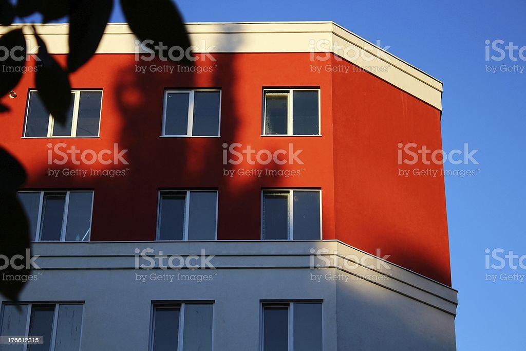 Part of new modern apartment building facade royalty-free stock photo