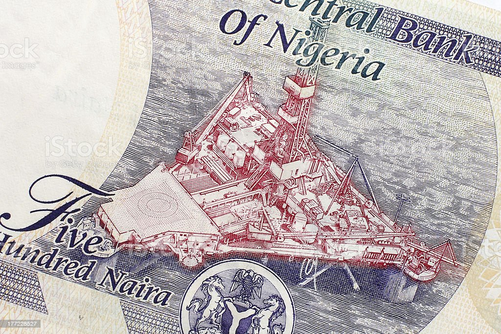 Part of Nigerian currency royalty-free stock photo
