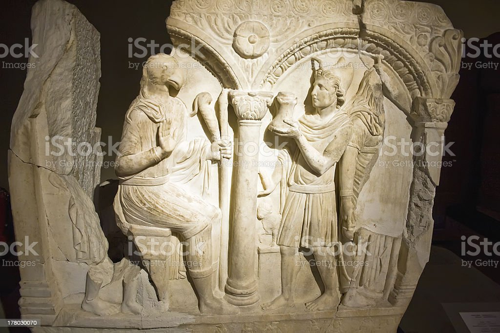 Part of old bas-relief royalty-free stock photo