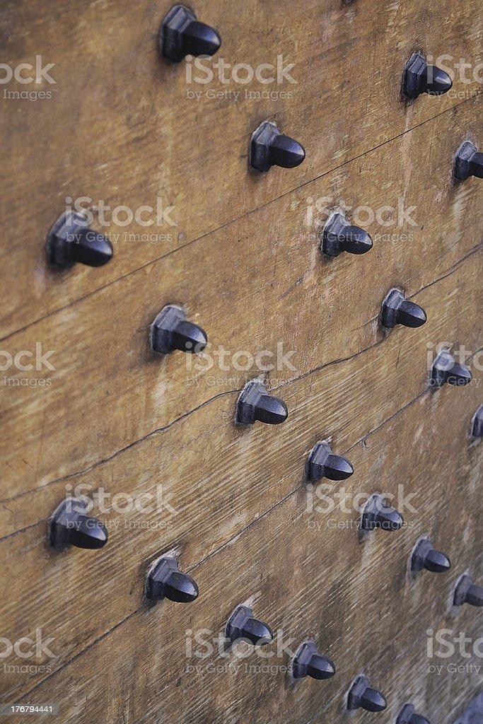 Part of old wooden door royalty-free stock photo