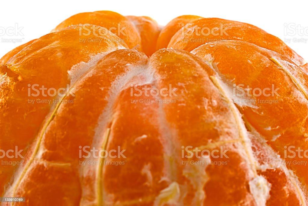 part of peeled mandarin royalty-free stock photo