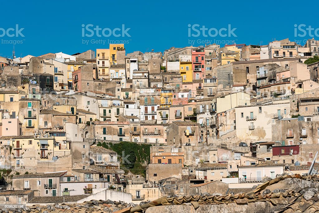 Part of Ragusa Ibla in Sicily stock photo