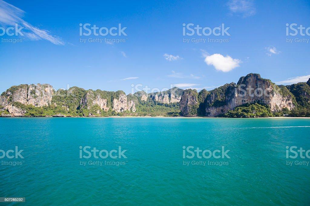 Part of Railay beach near Ao Nang in Thailand stock photo