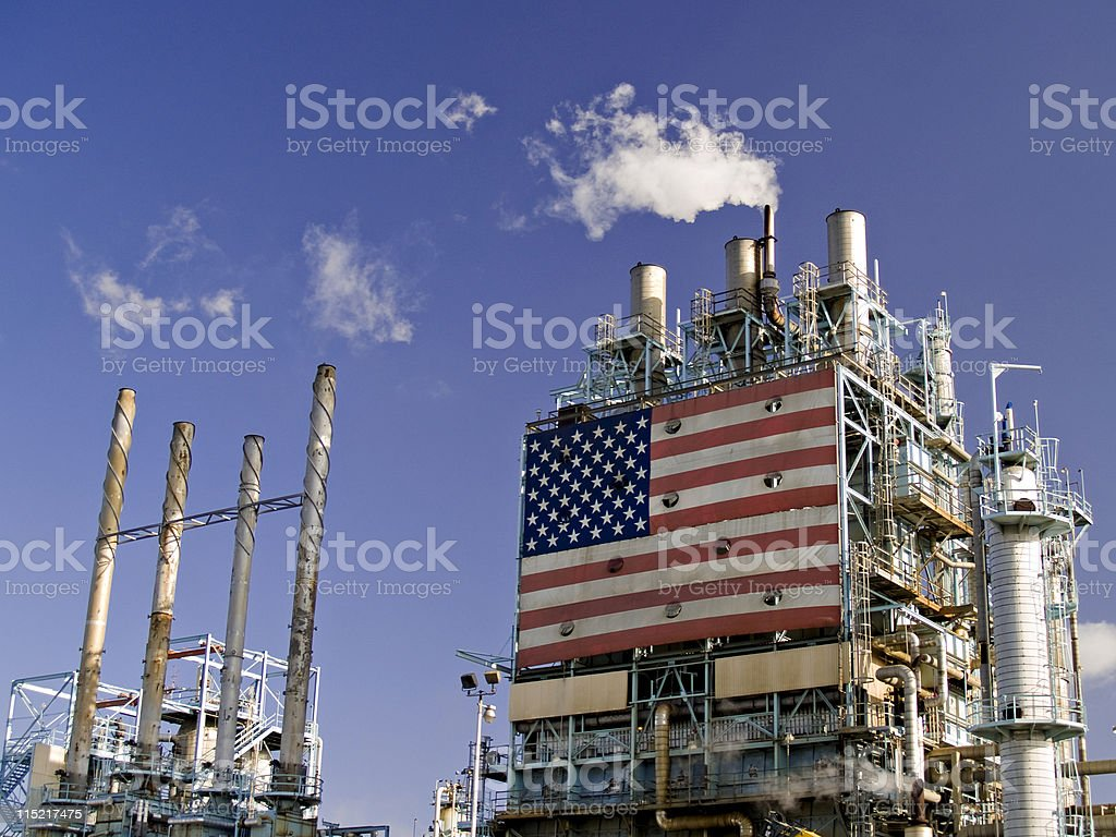 Part of Refinery Complex stock photo