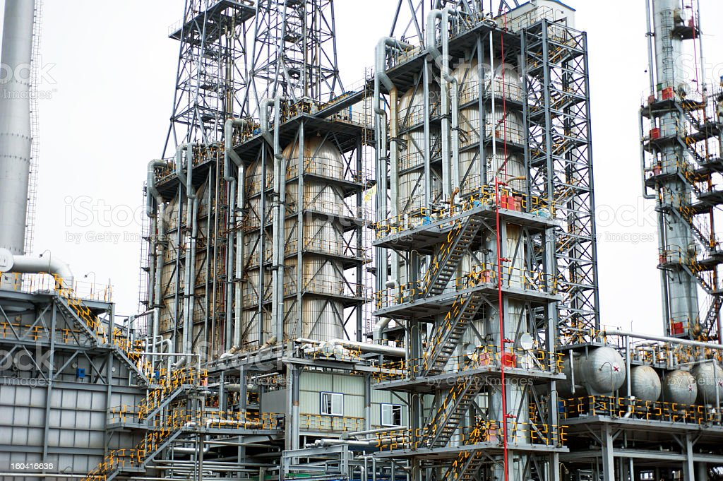 Part of refinery complex royalty-free stock photo