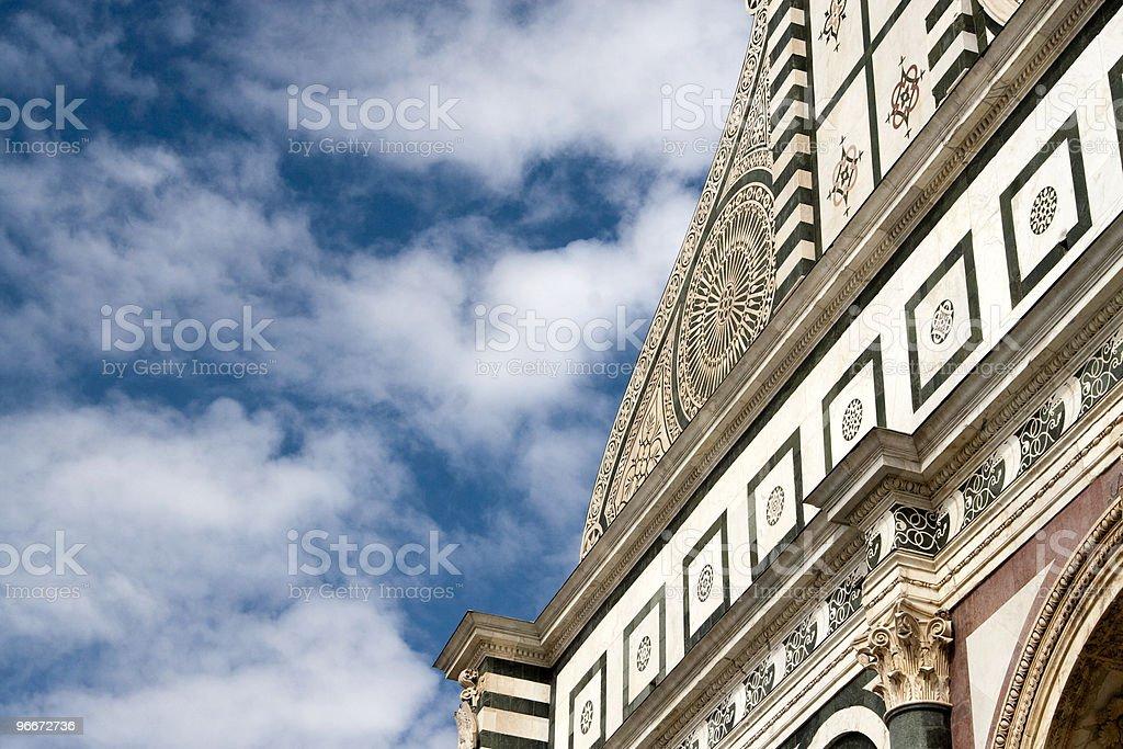 Part of Santa Maria Novella church facade stock photo