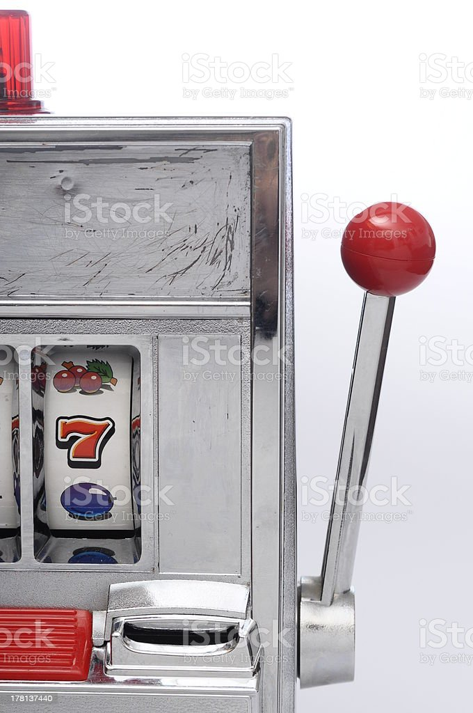 Part of slot machine and arm stock photo