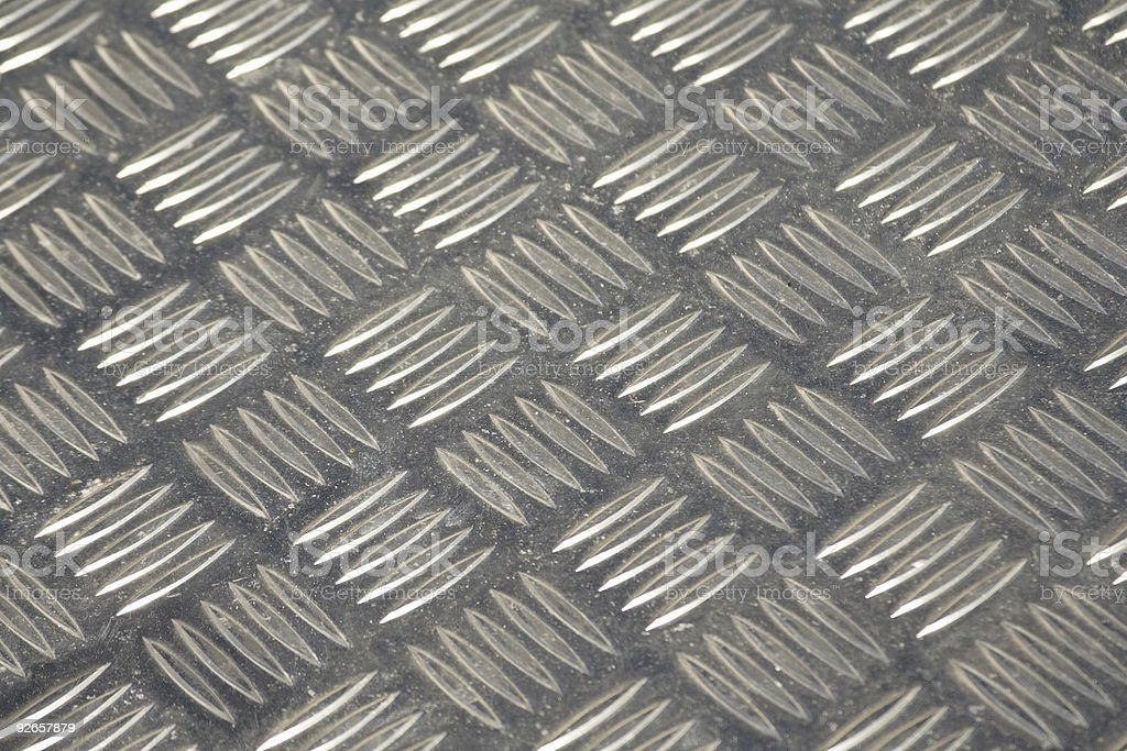 Part of steinless steel plate stock photo