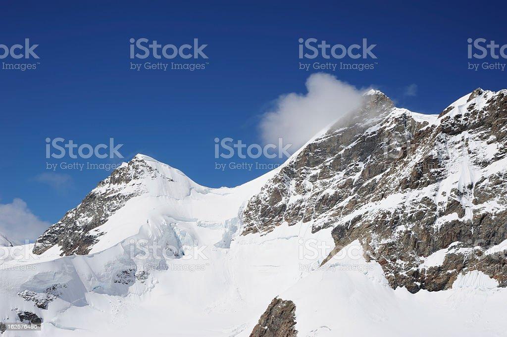 Part of Swiss Alps at Switzerland stock photo