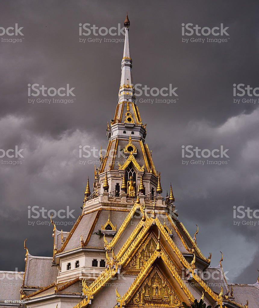 Part Of Temple stock photo