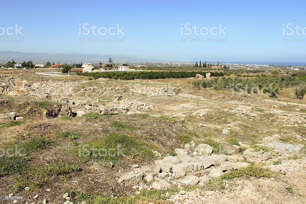 Part of the Ancient Corinth City - Greece royalty-free stock photo
