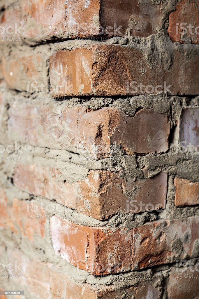 part of the brick wall royalty-free stock photo