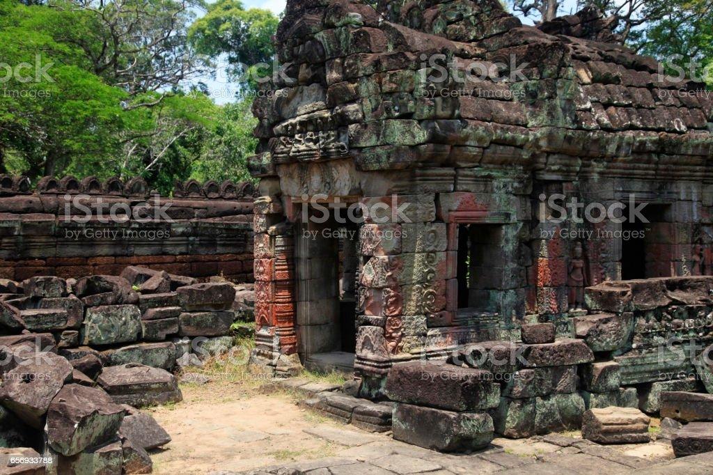Part of the Cambodian Ankgor temple ruins. Cambodia stock photo