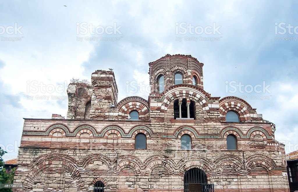 part of The Christ Pantocrator Curch stock photo
