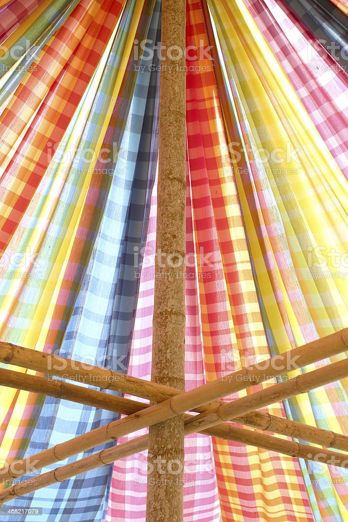 part of the color tent royalty-free stock photo