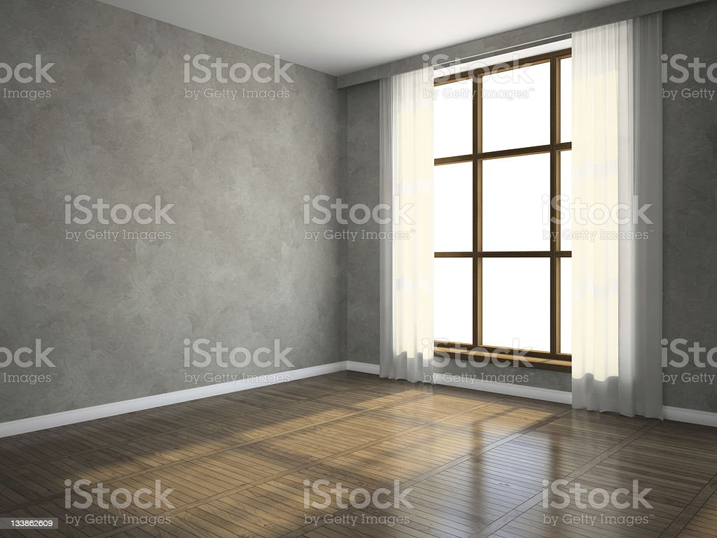 Part of the empty room royalty-free stock photo
