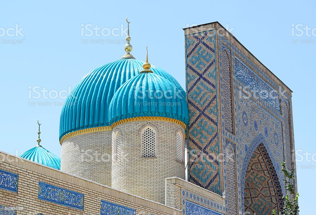Part of the entrance to the mosque. stock photo