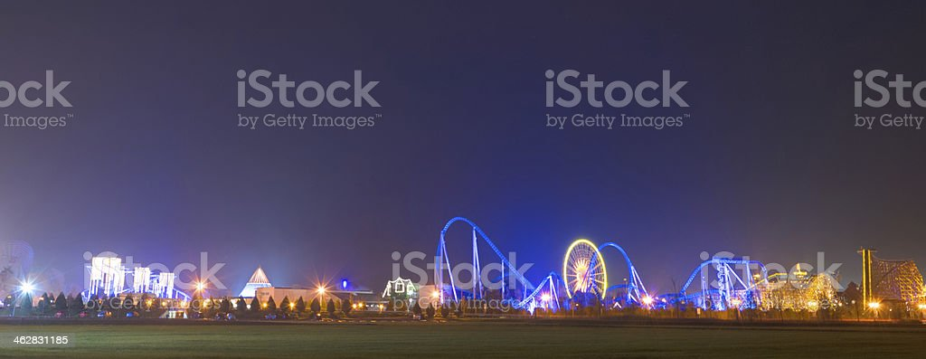 Part of the Europa-park in Rust stock photo