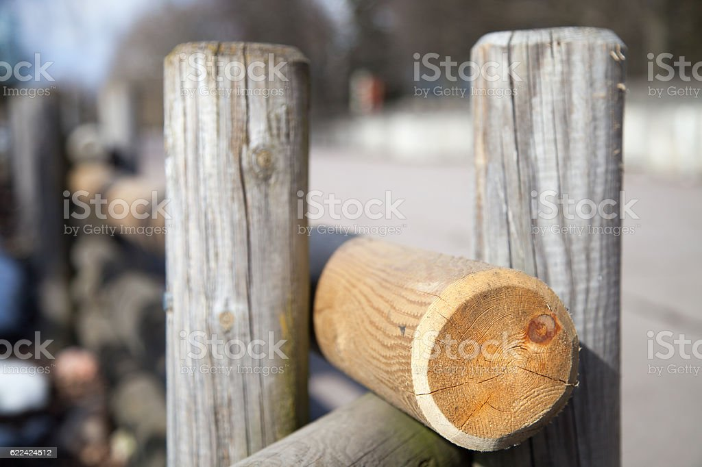 part of the fence stock photo