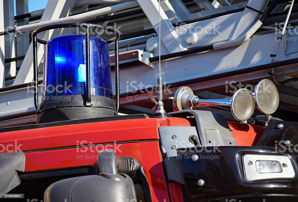 Part of the fire truck, siren and horn