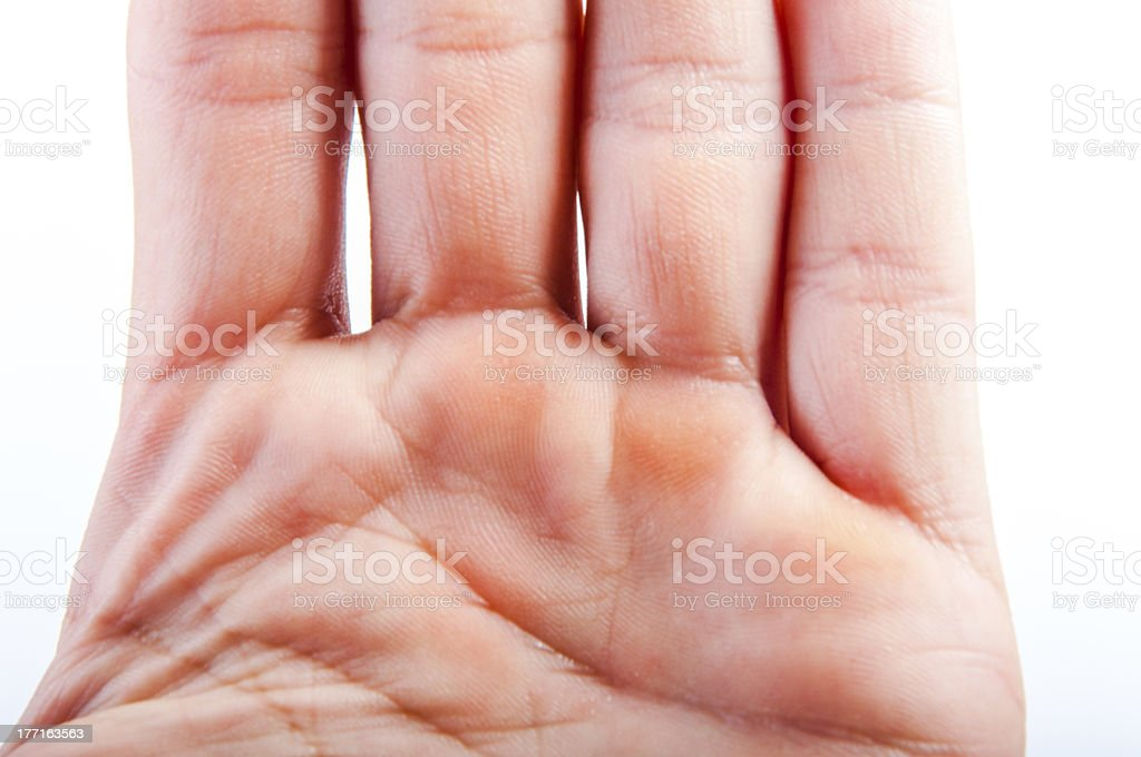Part of the hand royalty-free stock photo