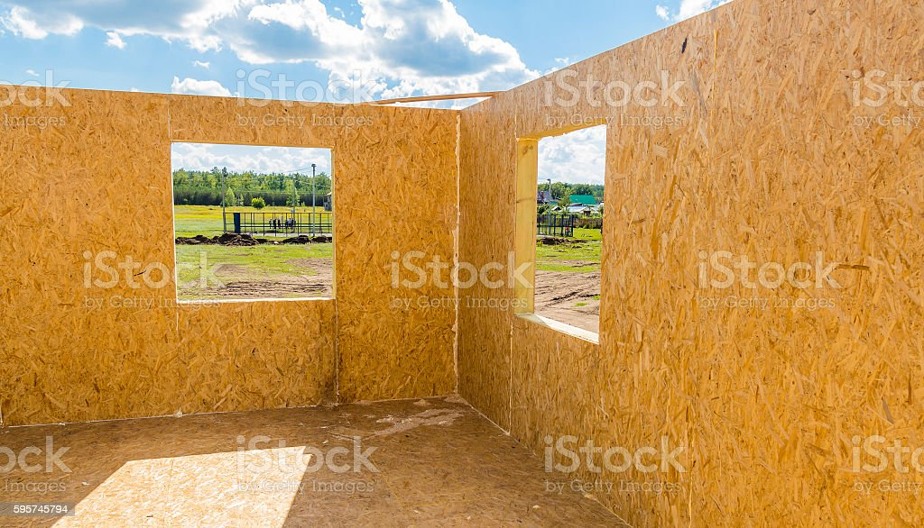 Part of the house under construction stock photo