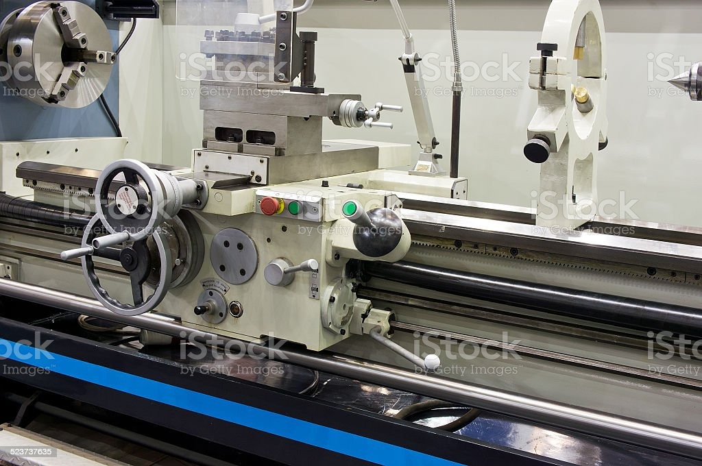 Part of the lathe stock photo
