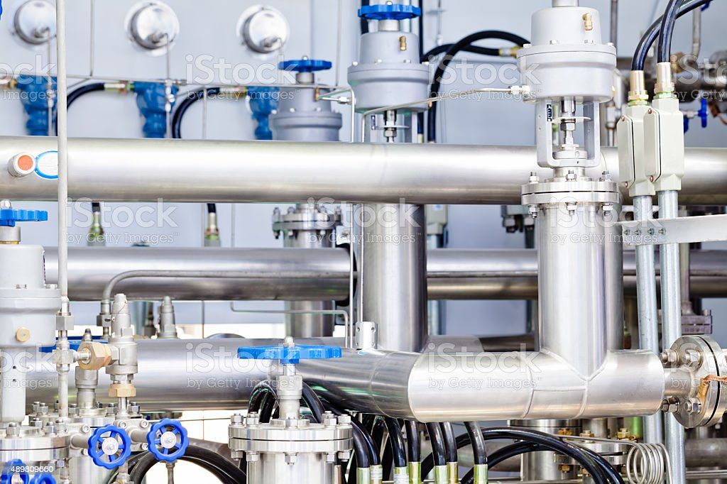 part of the LNG refuelling system stock photo