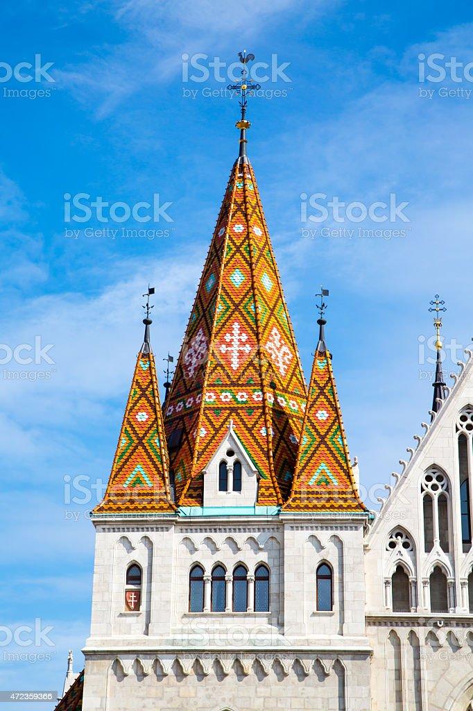 Part of the Matthias Church, Budapest stock photo