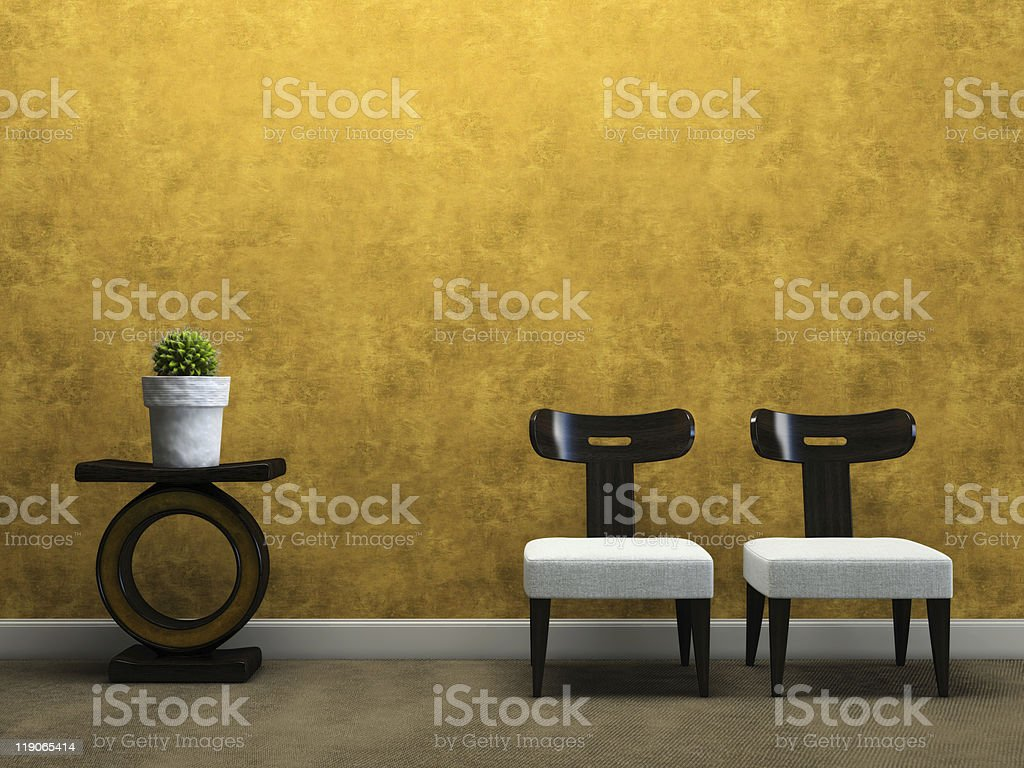 Part of the modern apartment royalty-free stock photo