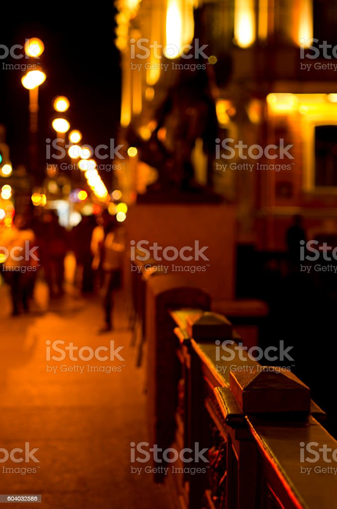 Part of the night street stock photo